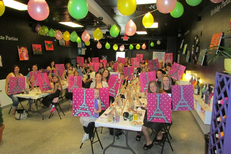 Canvas creations sip n paint colorado springs co for Kids paint party